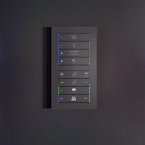 Ovládanie osvetlenia v systéme Control4 - zbernicové klávesnice ekinex KNX