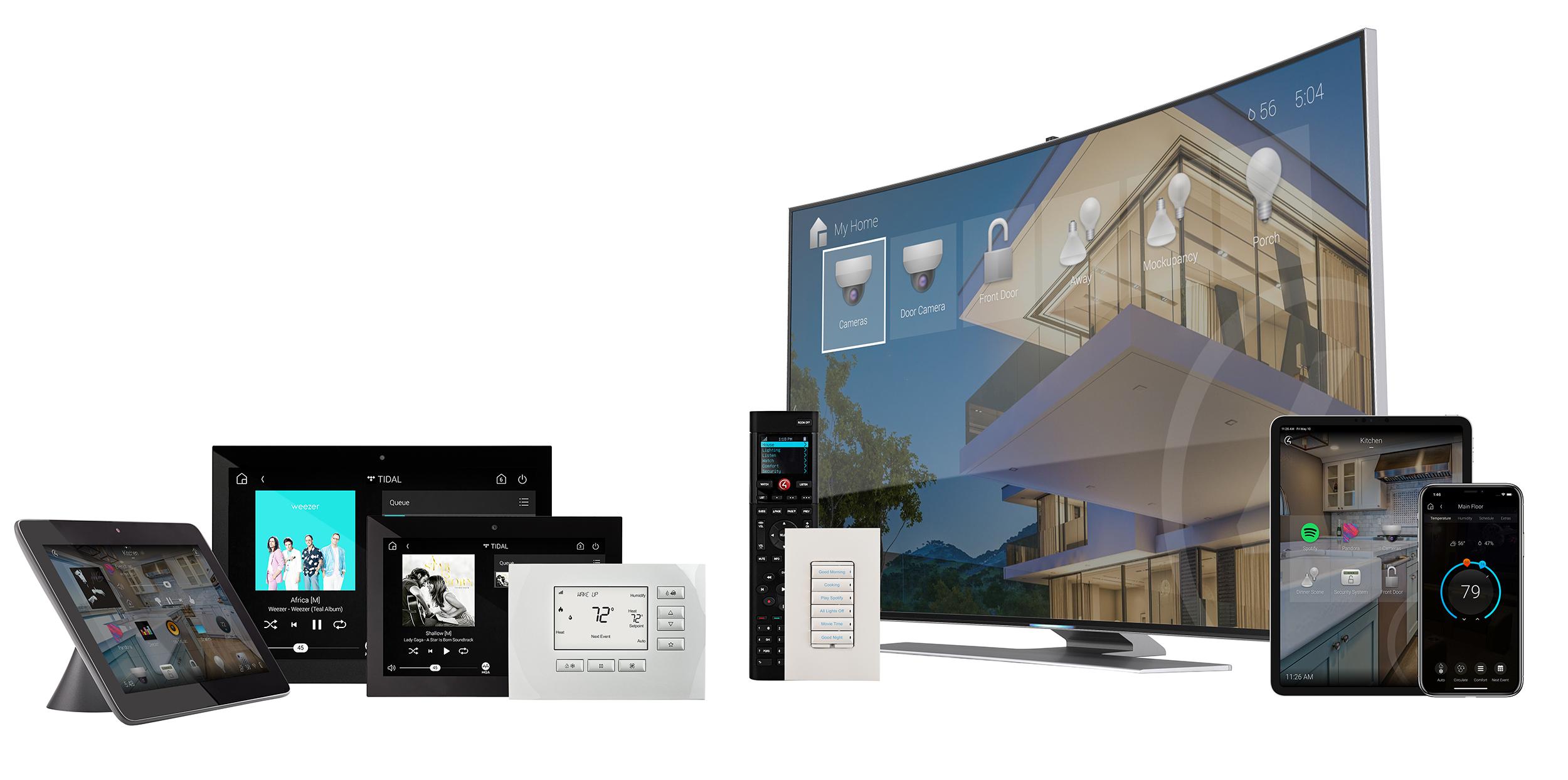 Ovládacie prvky inteligentnej domácnosti Control4